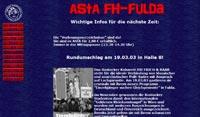 Homepage des AStA der FH-Fulda