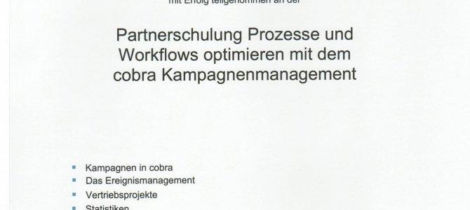 Partnerschulung Prozesse und Workflows optimieren mit dem cobra Kampagnenmanagement